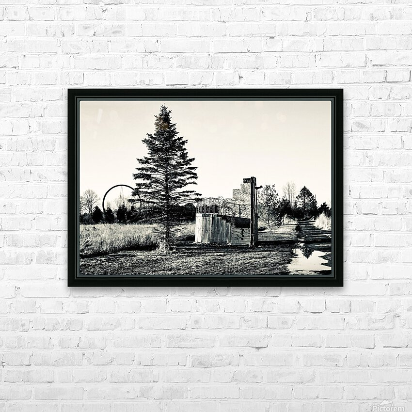 The Path Less Traveled HD Sublimation Metal print with Decorating Float Frame (BOX)