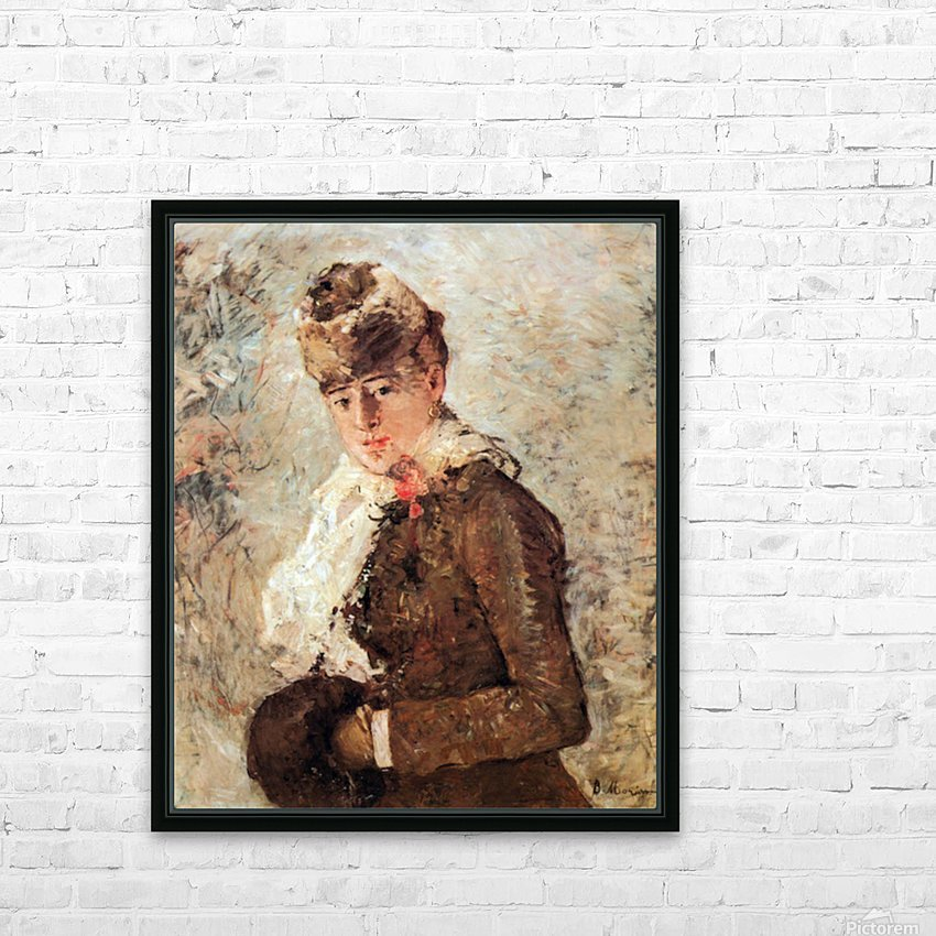 Winter (woman with Muff) by Morisot HD Sublimation Metal print with Decorating Float Frame (BOX)