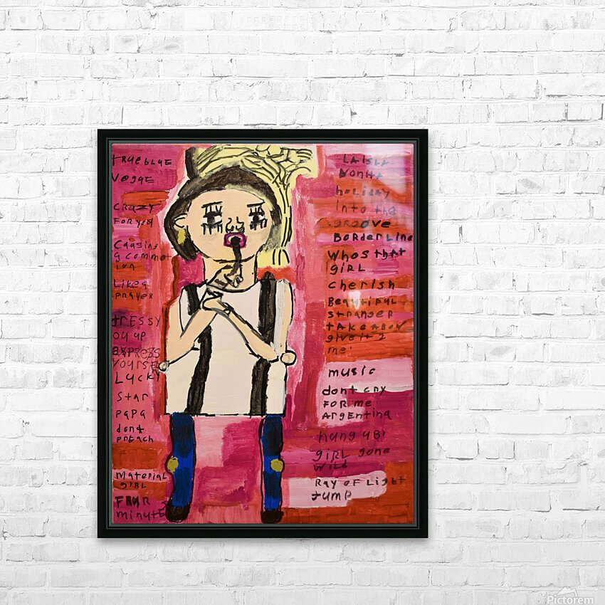 Madonna. Rick F HD Sublimation Metal print with Decorating Float Frame (BOX)