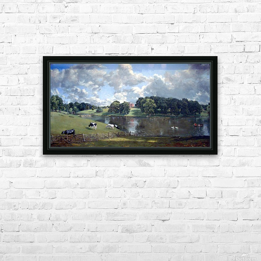 Wivenhoe Park by Constable HD Sublimation Metal print with Decorating Float Frame (BOX)