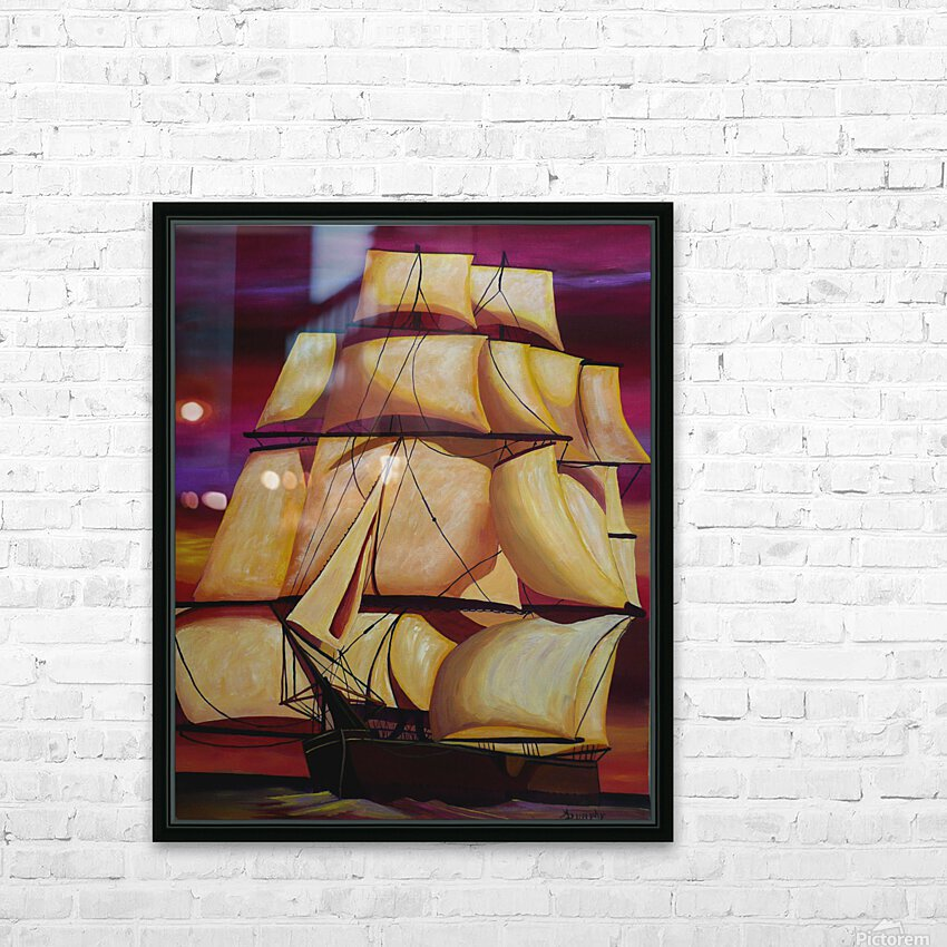 Calypso HD Sublimation Metal print with Decorating Float Frame (BOX)