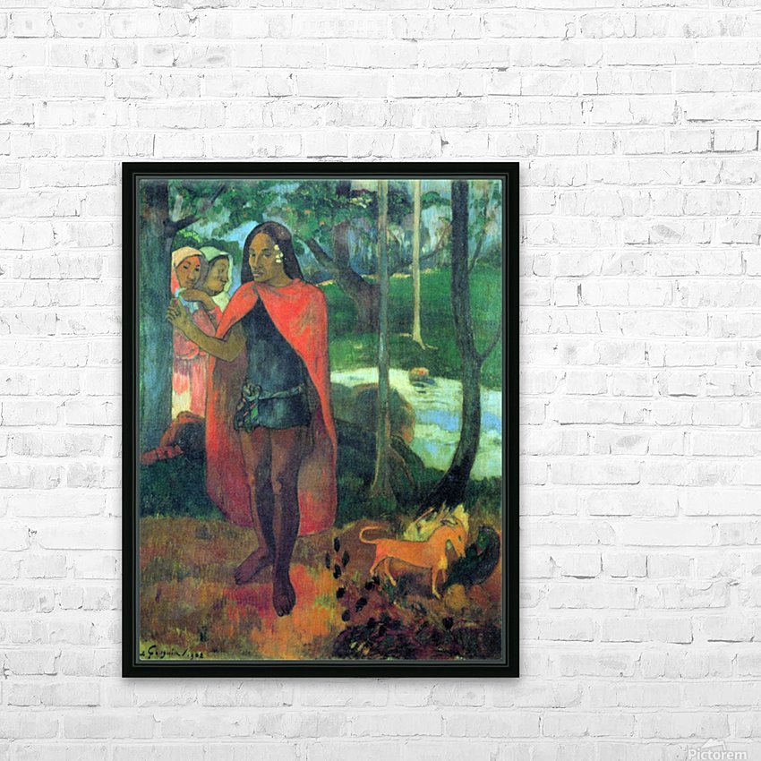 Wizard of Hiva-Oa by Gauguin HD Sublimation Metal print with Decorating Float Frame (BOX)