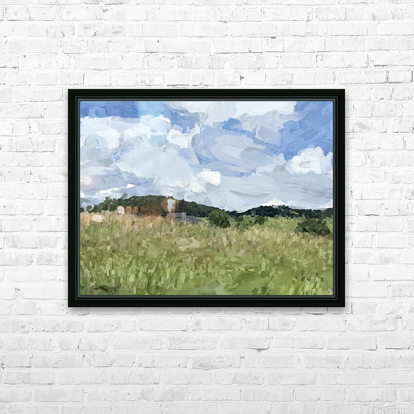 Clouds Over Parkton HD Sublimation Metal print with Decorating Float Frame (BOX)