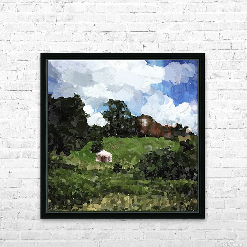 Garden Folly at Winterthur HD Sublimation Metal print with Decorating Float Frame (BOX)