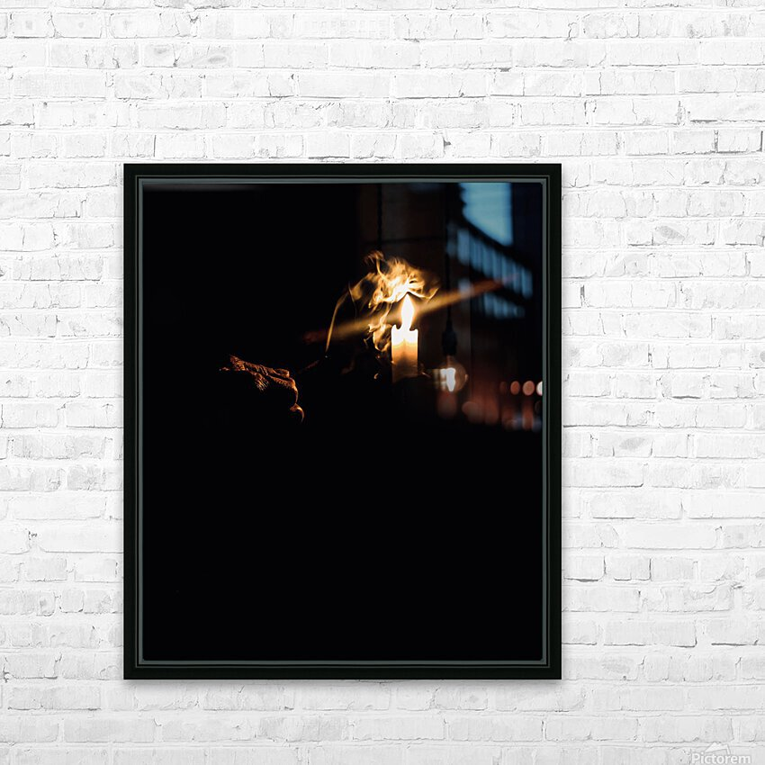 A Light in the Darkness HD Sublimation Metal print with Decorating Float Frame (BOX)