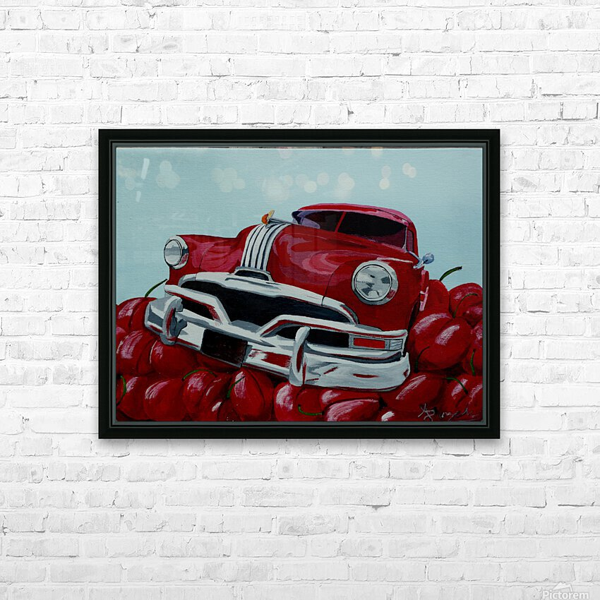 Cherry Ride HD Sublimation Metal print with Decorating Float Frame (BOX)