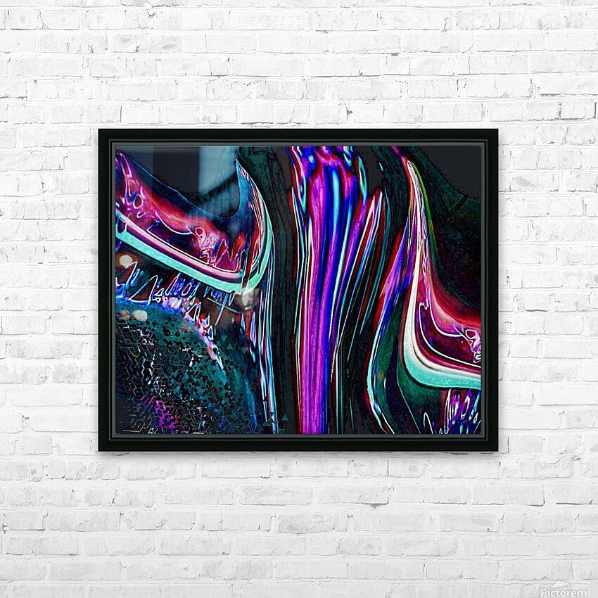 Colorful Distortions HD Sublimation Metal print with Decorating Float Frame (BOX)