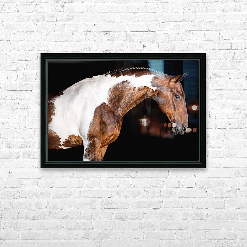 Paint Horse Portrait - Comanche HD Sublimation Metal print with Decorating Float Frame (BOX)