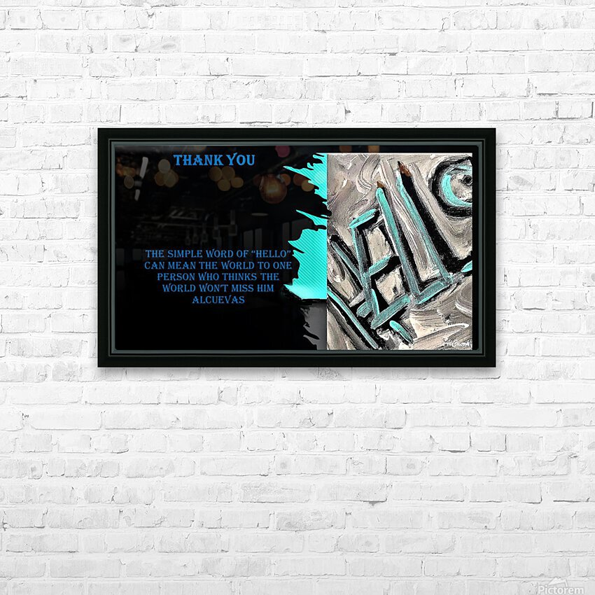 18.The Simple Word of HD Sublimation Metal print with Decorating Float Frame (BOX)