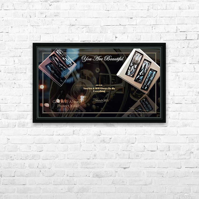 You Are Beautiful HD Sublimation Metal print with Decorating Float Frame (BOX)