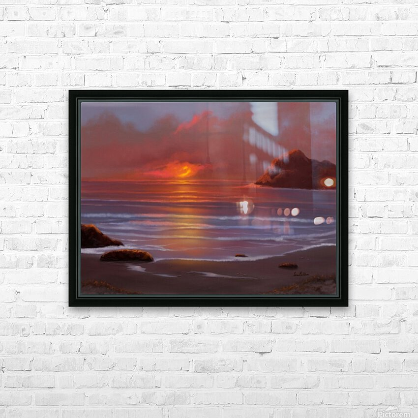 Blazing Skies HD Sublimation Metal print with Decorating Float Frame (BOX)