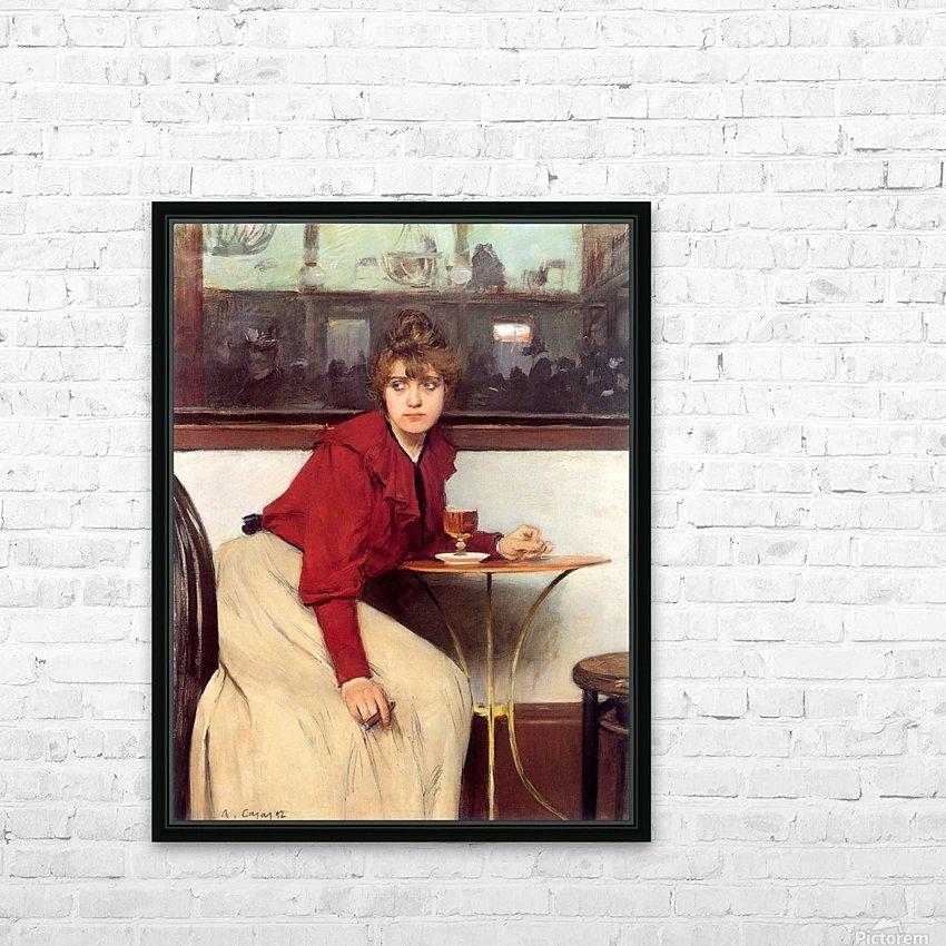 Au Moulin de la Galette HD Sublimation Metal print with Decorating Float Frame (BOX)