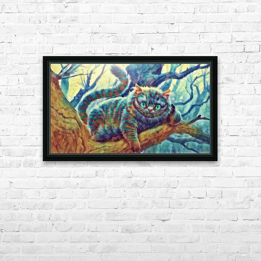Cheshire Cat  HD Sublimation Metal print with Decorating Float Frame (BOX)