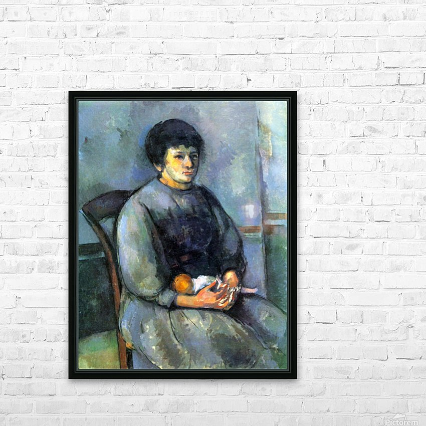 Woman with Doll by Cezanne HD Sublimation Metal print with Decorating Float Frame (BOX)