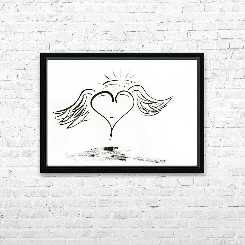 2020 heart angel HD Sublimation Metal print with Decorating Float Frame (BOX)