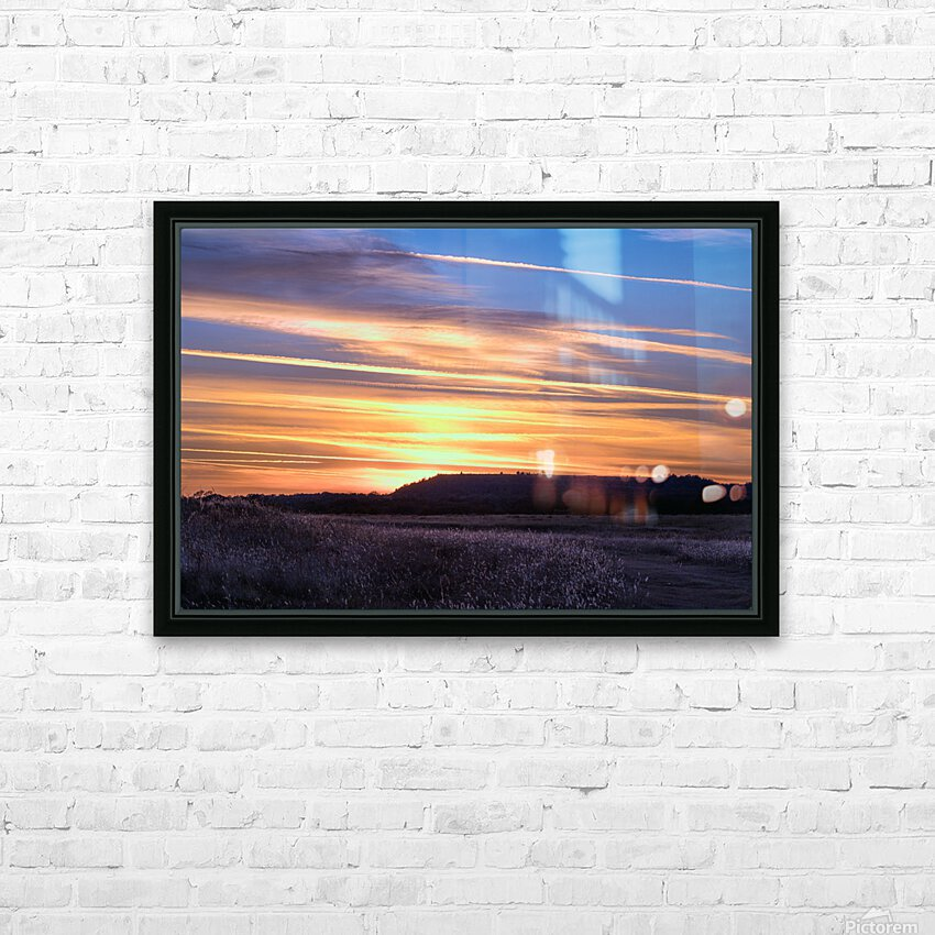 Table Top Mountain Sunset HD Sublimation Metal print with Decorating Float Frame (BOX)