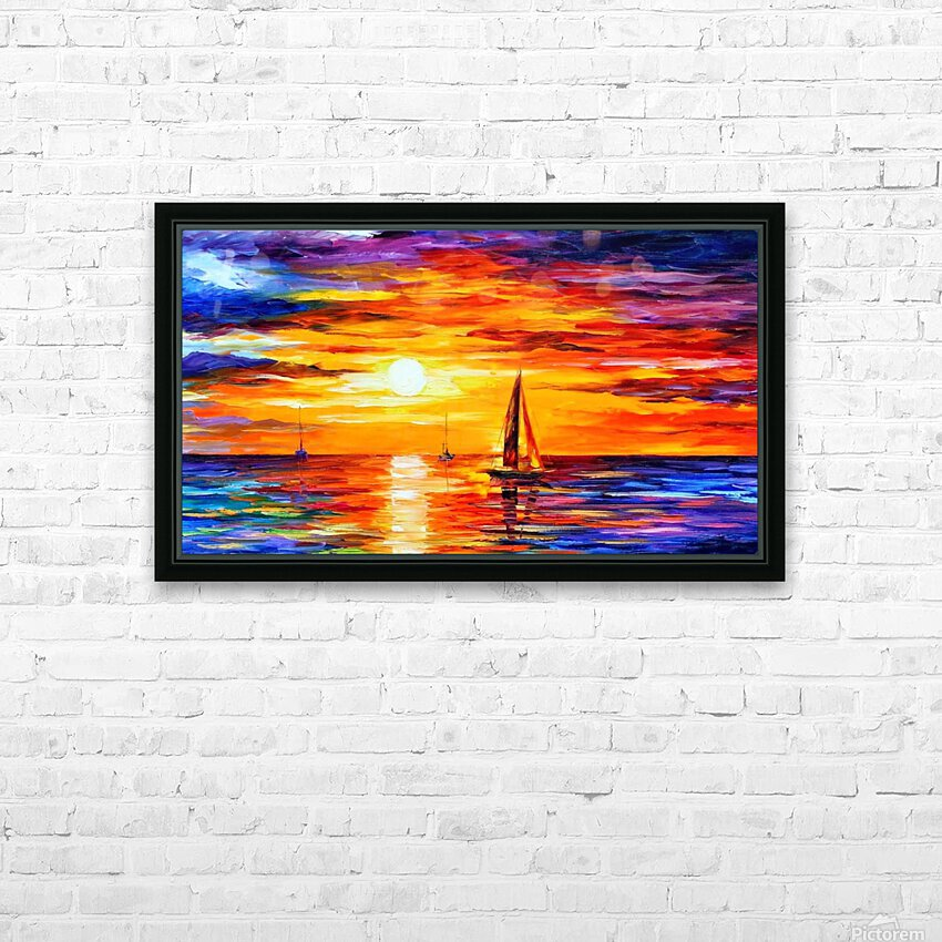 Open Water HD Sublimation Metal print with Decorating Float Frame (BOX)