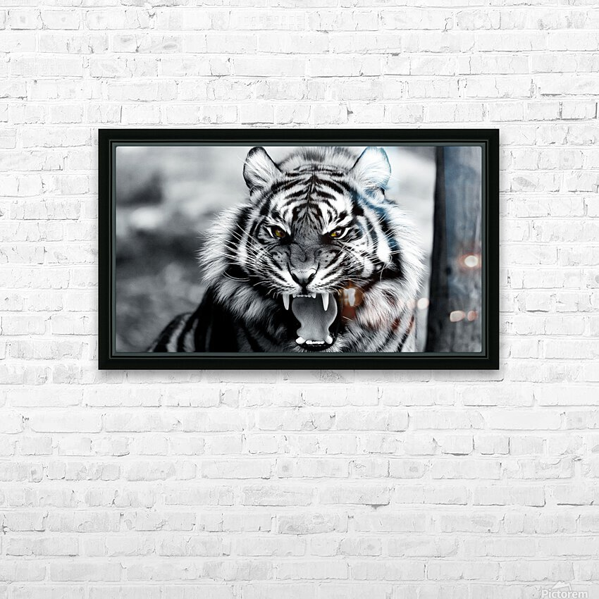 Fierce  HD Sublimation Metal print with Decorating Float Frame (BOX)