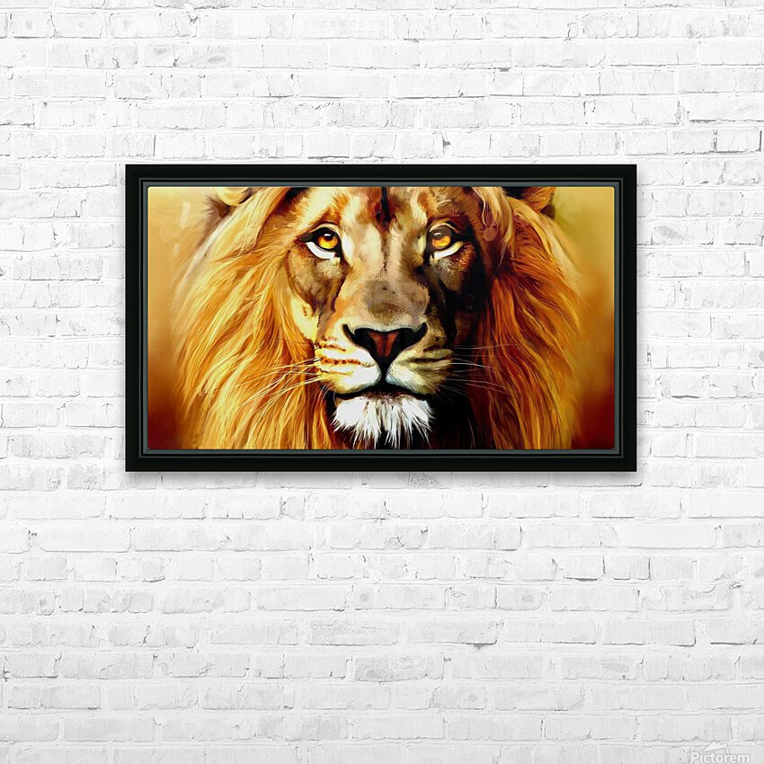 Majestic Beast  HD Sublimation Metal print with Decorating Float Frame (BOX)