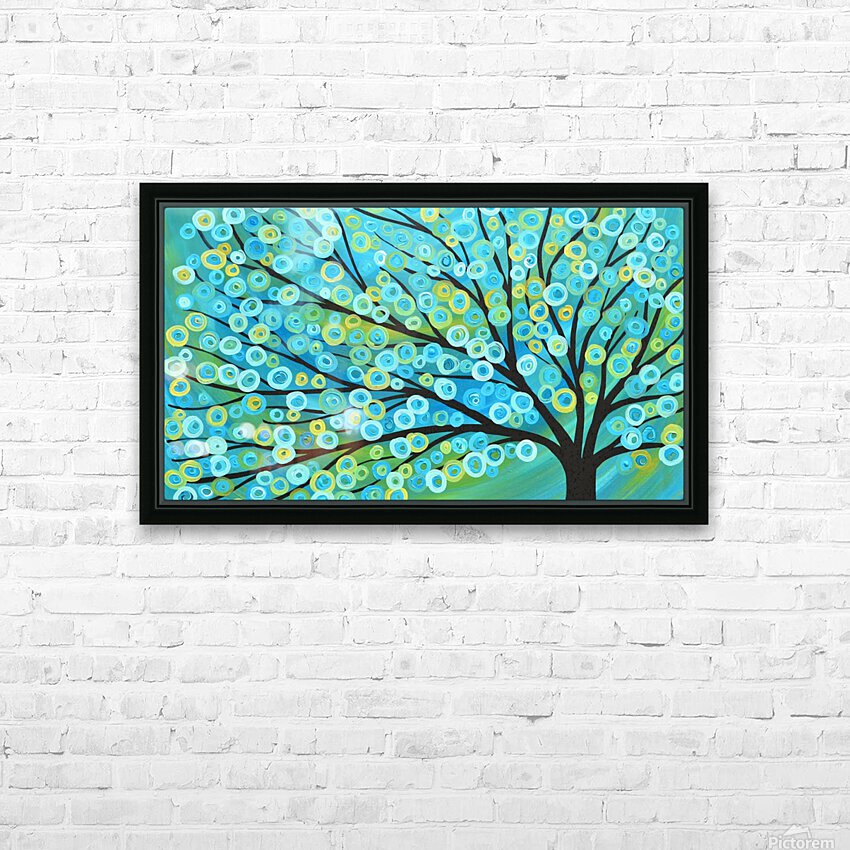 Blossoms   HD Sublimation Metal print with Decorating Float Frame (BOX)