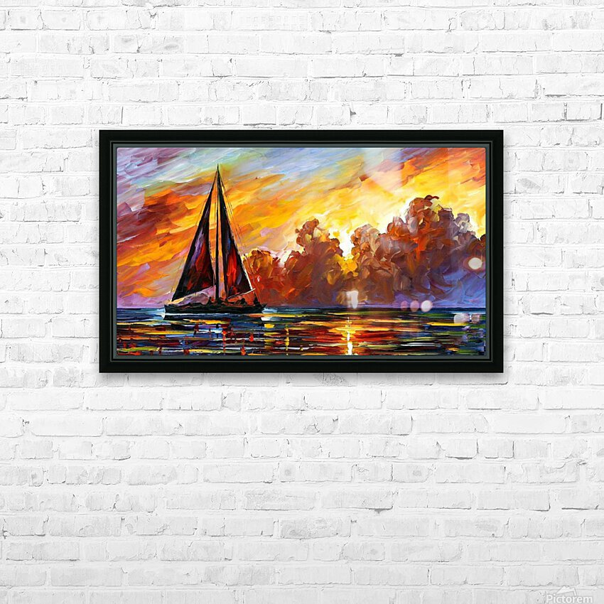 Golden Sails HD Sublimation Metal print with Decorating Float Frame (BOX)