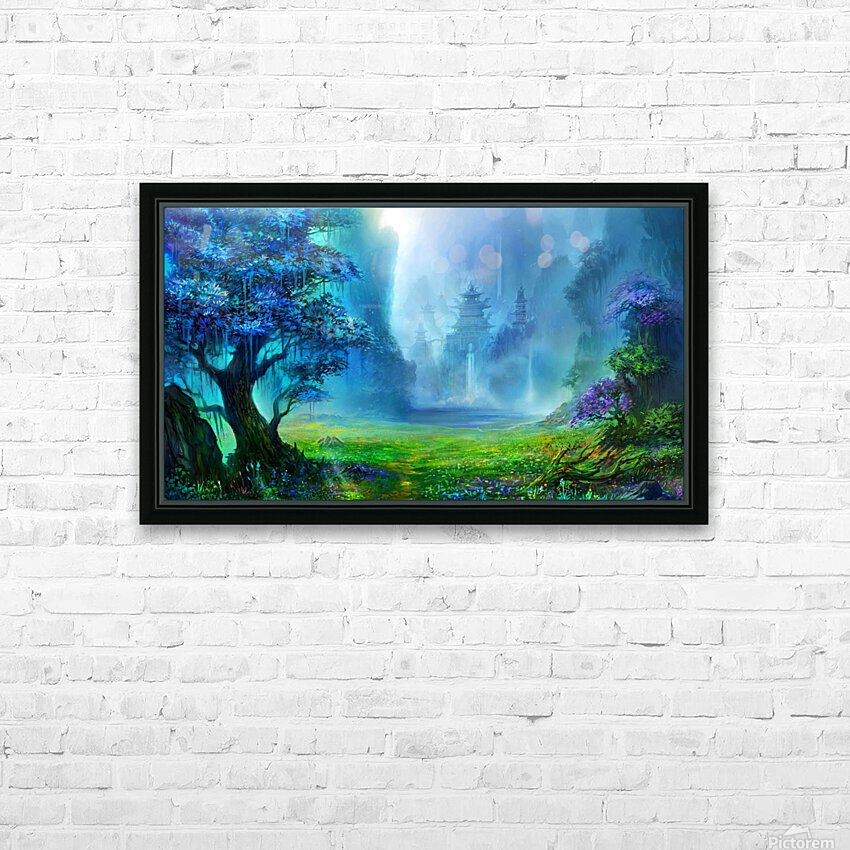 Blue Ravine HD Sublimation Metal print with Decorating Float Frame (BOX)
