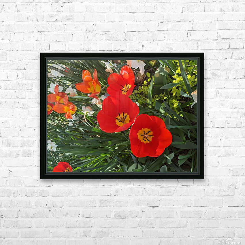 The Flower Family HD Sublimation Metal print with Decorating Float Frame (BOX)