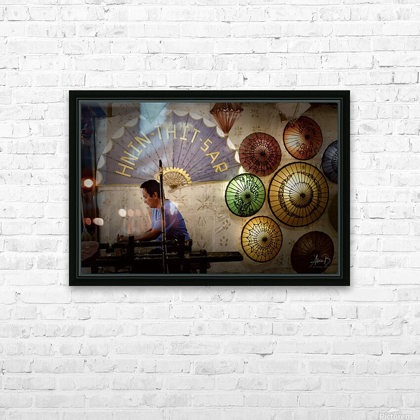 Umbrella maker HD Sublimation Metal print with Decorating Float Frame (BOX)