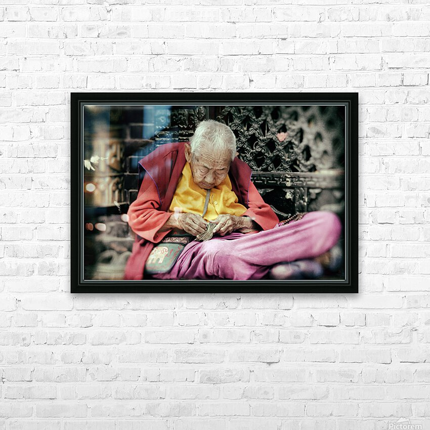 Temple gardener HD Sublimation Metal print with Decorating Float Frame (BOX)