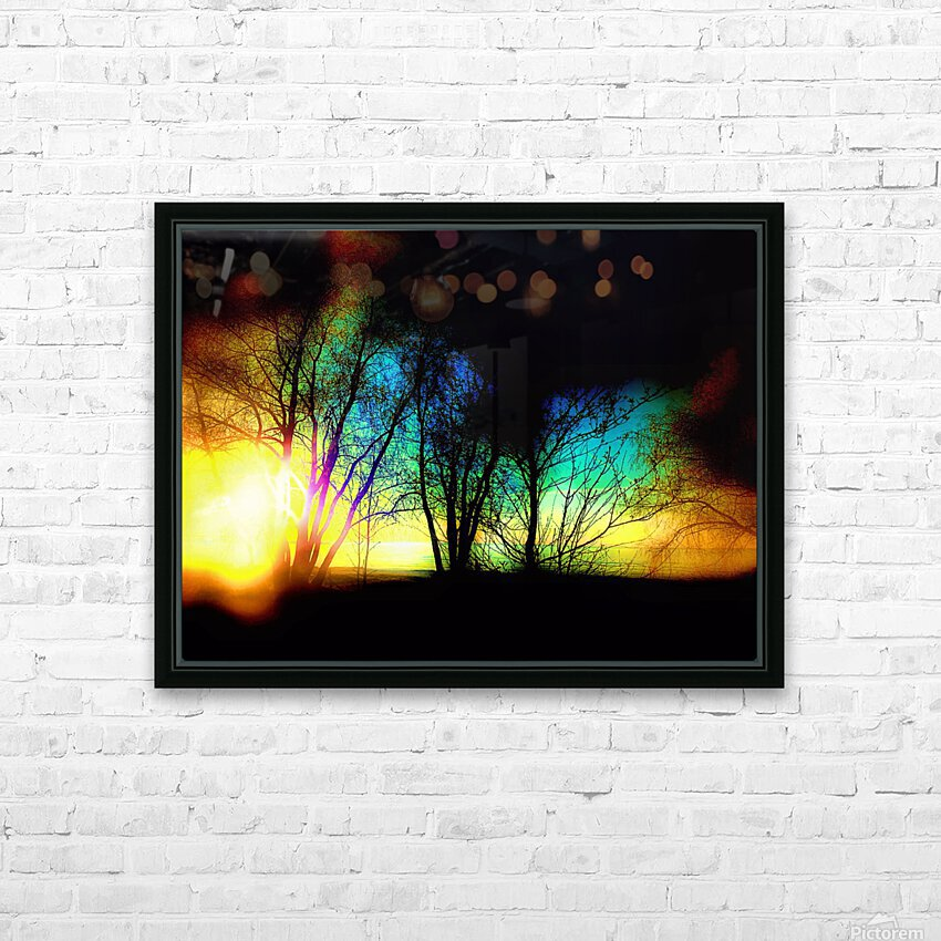 Evening tree HD Sublimation Metal print with Decorating Float Frame (BOX)
