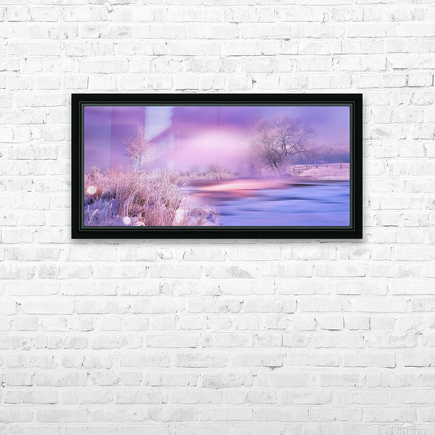 Dreaming In Purple HD Sublimation Metal print with Decorating Float Frame (BOX)