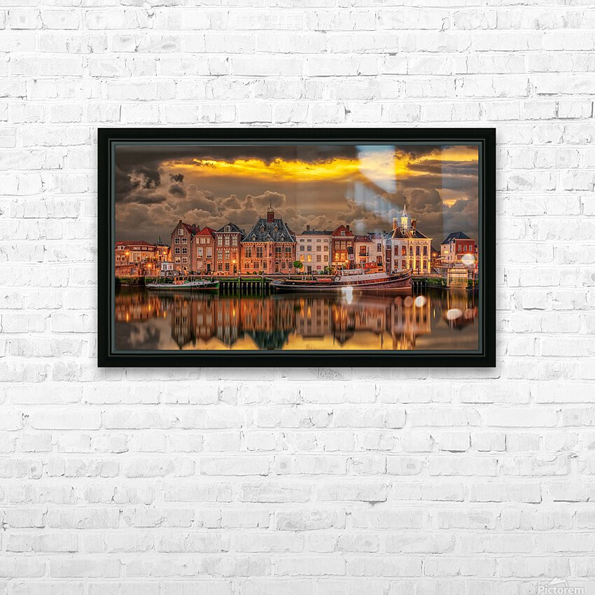 Old Port Of Maasslui   HD Sublimation Metal print with Decorating Float Frame (BOX)