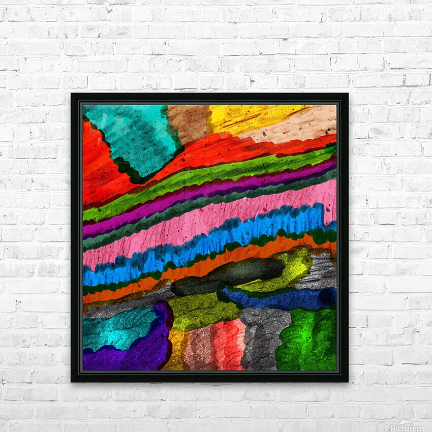 Abstract Art HD Sublimation Metal print with Decorating Float Frame (BOX)