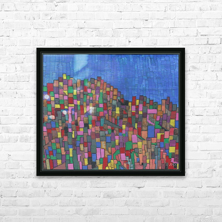 colorfulbuildings HD Sublimation Metal print with Decorating Float Frame (BOX)