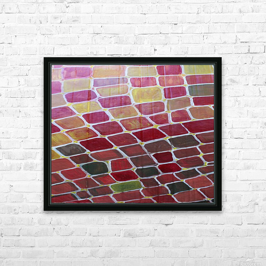 colorblocks HD Sublimation Metal print with Decorating Float Frame (BOX)
