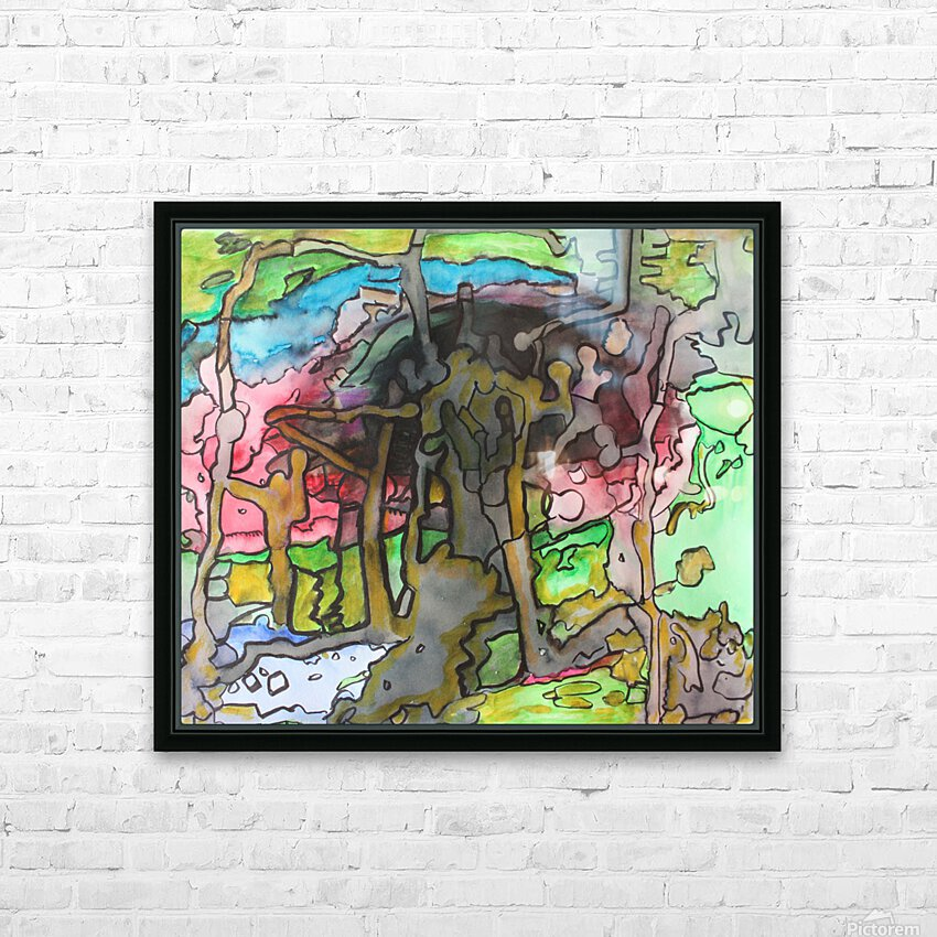 Abstractforest HD Sublimation Metal print with Decorating Float Frame (BOX)
