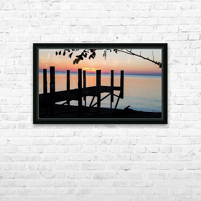 Lake Erie Doc HD Sublimation Metal print with Decorating Float Frame (BOX)