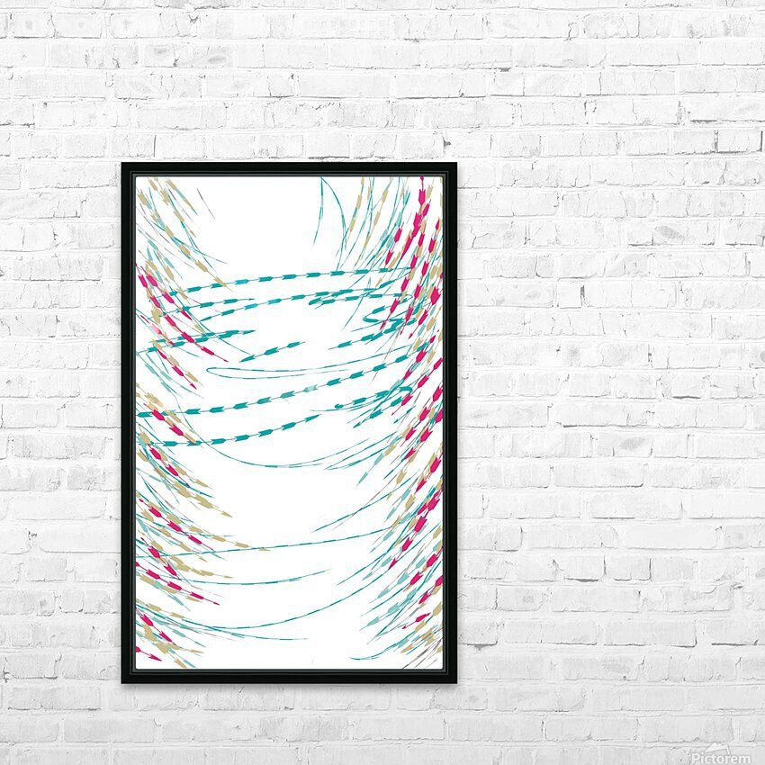 ABSTRACT PAINTING 75 HD Sublimation Metal print with Decorating Float Frame (BOX)