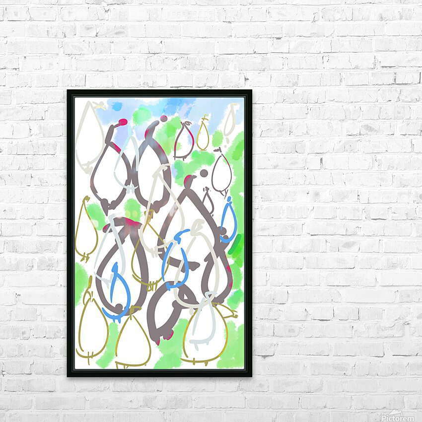 ABSTRACT PAINTING 88 HD Sublimation Metal print with Decorating Float Frame (BOX)