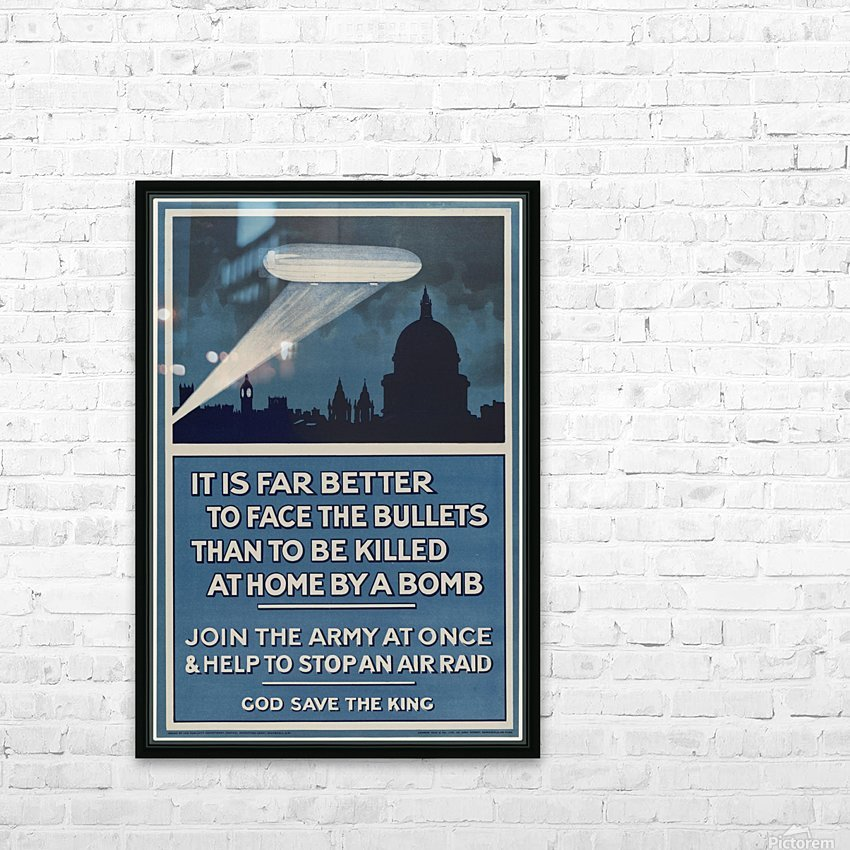 World War I poster HD Sublimation Metal print with Decorating Float Frame (BOX)