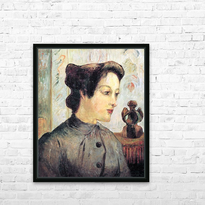 Women With Topknots by Gauguin HD Sublimation Metal print with Decorating Float Frame (BOX)