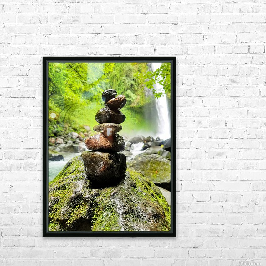 La Fortuna Waterfall  HD Sublimation Metal print with Decorating Float Frame (BOX)