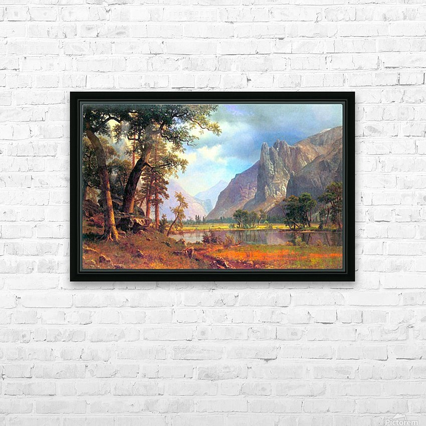 Yosemite Valley 2 by Bierstadt HD Sublimation Metal print with Decorating Float Frame (BOX)