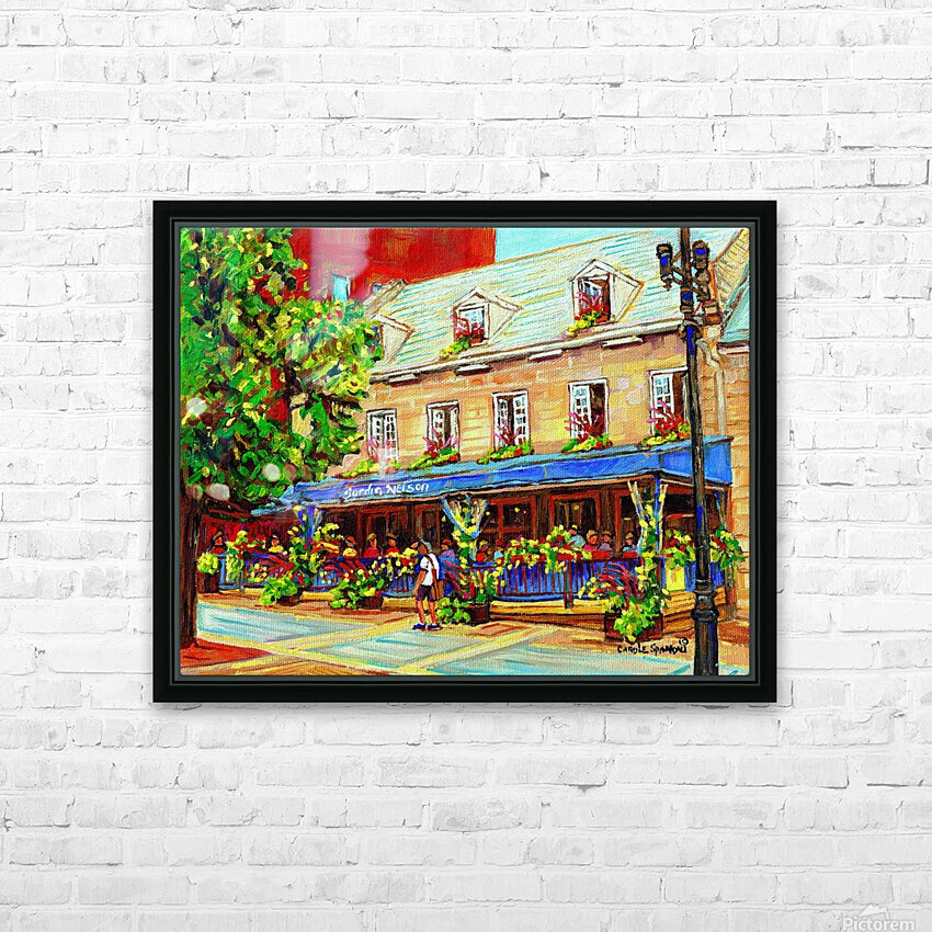 LE JARDIN NELSON OLD MONTREAL RESTAURANT SUMMER STREET SCENE HD Sublimation Metal print with Decorating Float Frame (BOX)