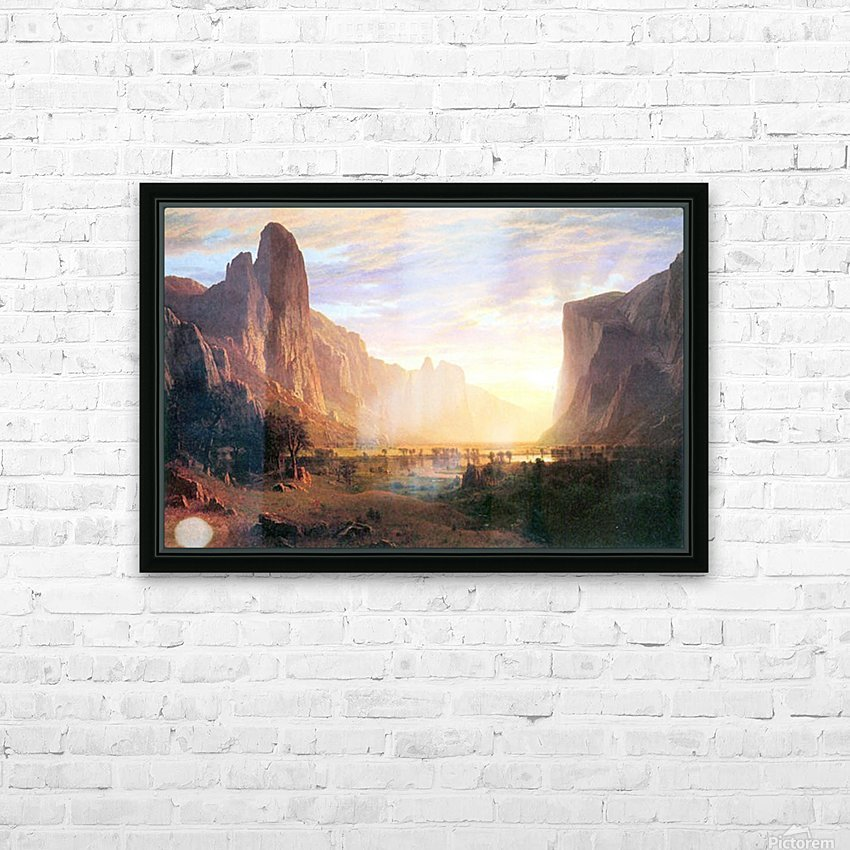Yosemite Valley 3 by Bierstadt HD Sublimation Metal print with Decorating Float Frame (BOX)