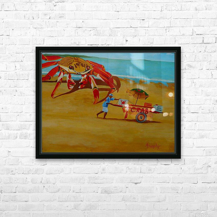 Crab Food Vendor HD Sublimation Metal print with Decorating Float Frame (BOX)