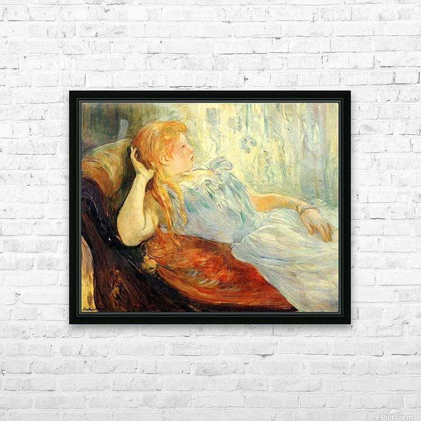 Young girl resting -2- by Morisot HD Sublimation Metal print with Decorating Float Frame (BOX)