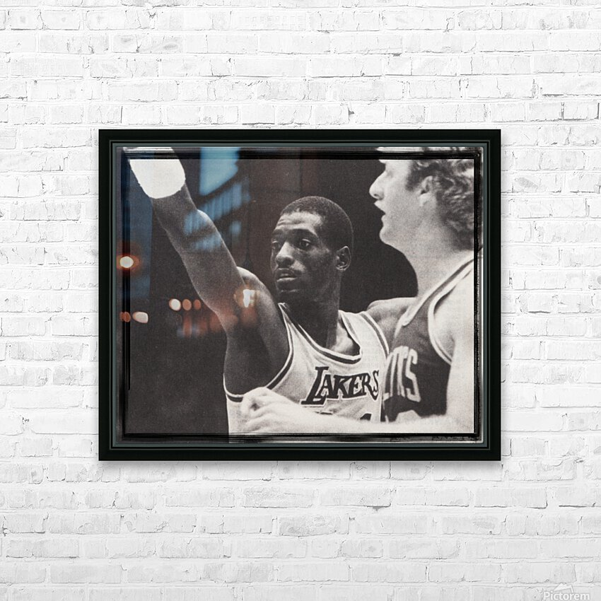 Michael Cooper and Larry Bird Film Strip HD Sublimation Metal print with Decorating Float Frame (BOX)