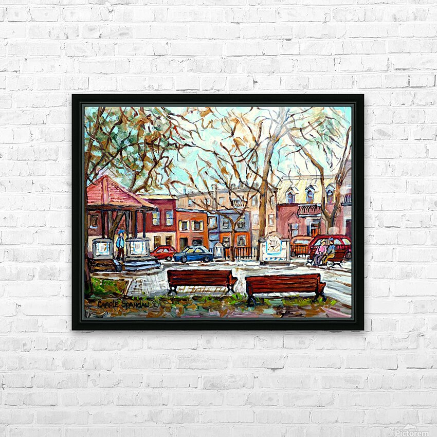 PORTUGUESE PARK PLATEAU MONT ROYAL MONTREAL STREET SCENE HD Sublimation Metal print with Decorating Float Frame (BOX)
