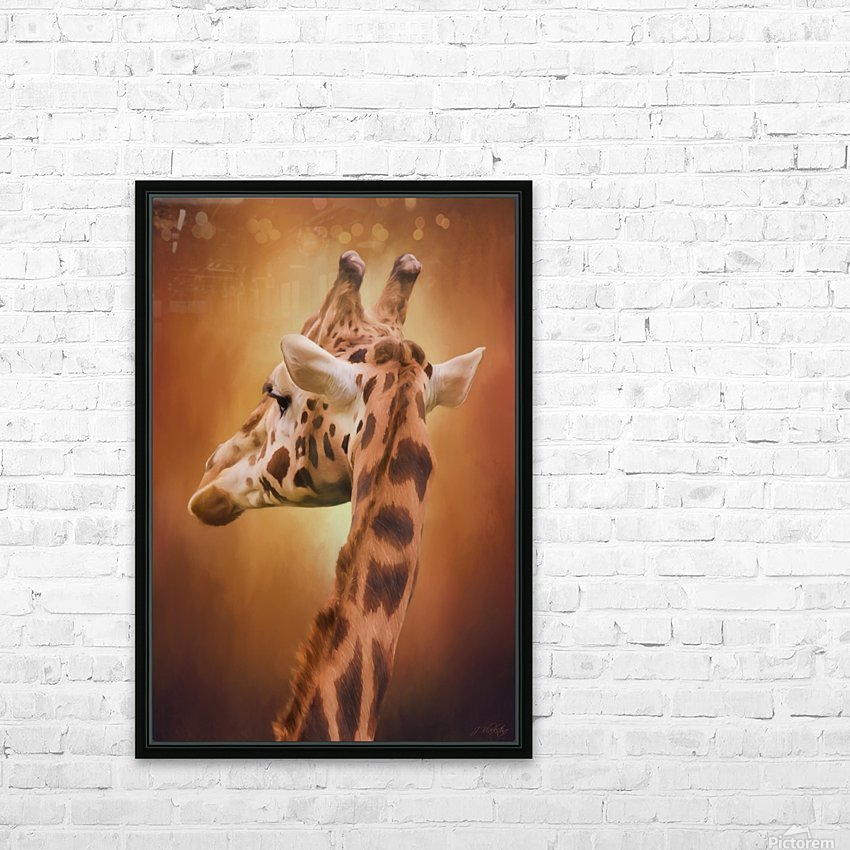 Rising Above - Giraffe Art HD Sublimation Metal print with Decorating Float Frame (BOX)